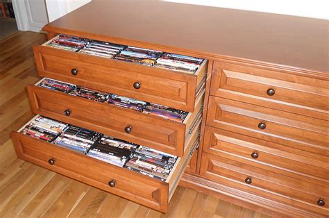 Media Storage Cabinets With Drawers; Organize your blu