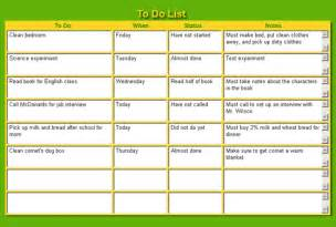 what does a template to do list exles free to do list
