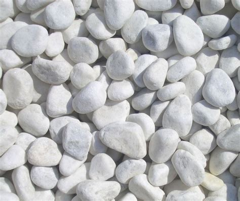 beautiful 1 2cm snow white quartz garden pebbles 20kg bag