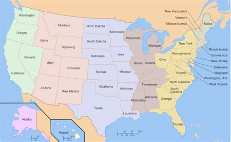 the map of america geography american states memory forum mnemotechnics