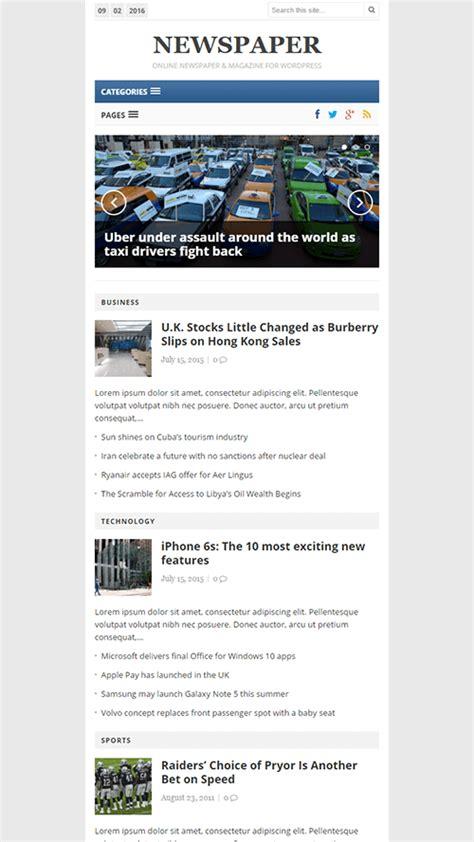 Newspaper Theme Mobile | newspaper wordpress theme theme junkie