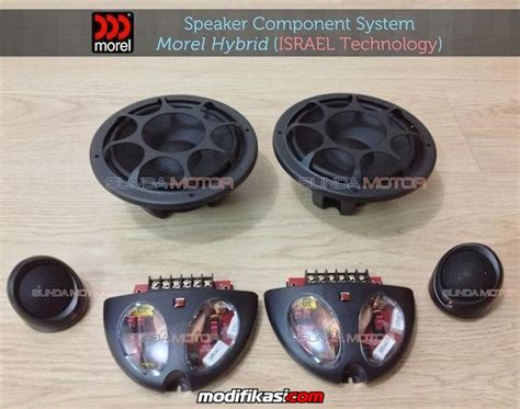 Speaker 2 Ways Morel Maximo 6 Split speaker mobil branded high sound quality paket audio by
