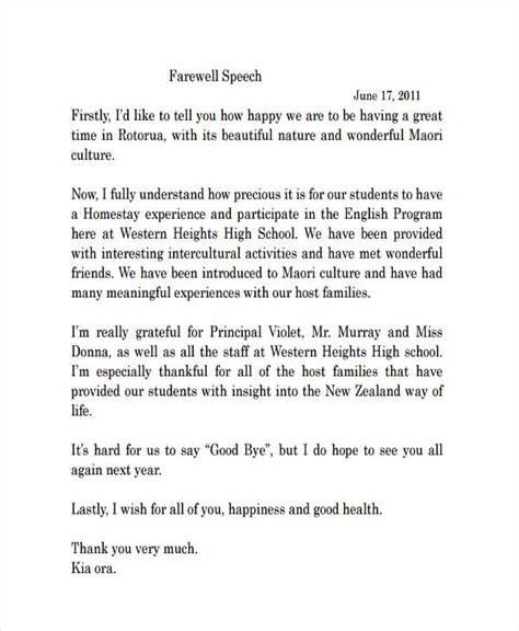 23 Speech Exles Pdf Farewell Presentation Ideas