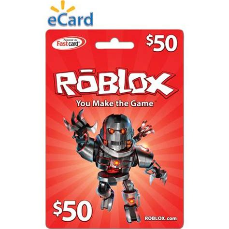 Roblox Gift Card - roblox 50 prepaid game card chatandgames