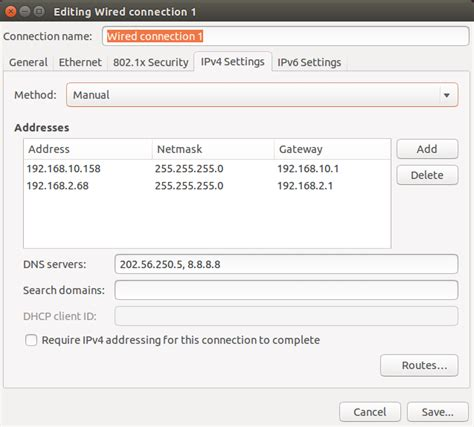 configure ubuntu server static ip networking assign multiple ip and gateway in ubuntu
