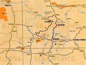 four corners map of our whitewater rivers in the southwest