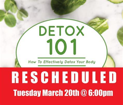 March Detox by Detox 101 Seminar Triad Health Center