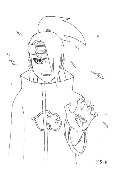 pin akatsuki coloring pages on pinterest