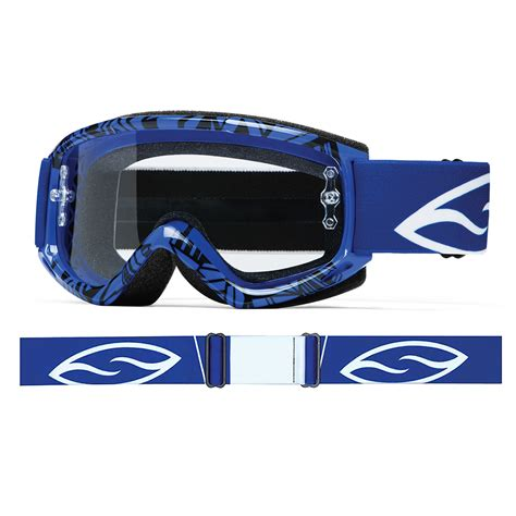 smith motocross goggles smith fuel v 1 max motocross goggles blue vapour