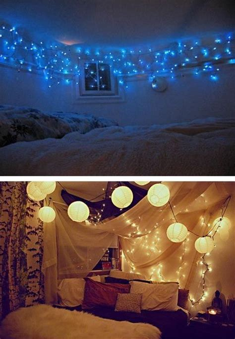 bedroom decorating with lights lighting
