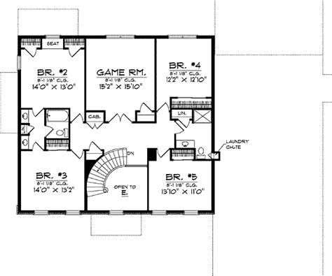 Classic Two Story Home Plan 89017ah 1st Floor Master Two Story House Plans With Library