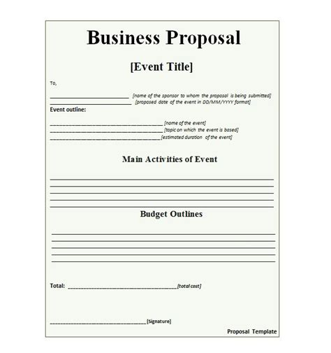 proposal layout template 30 business proposal templates proposal letter sles