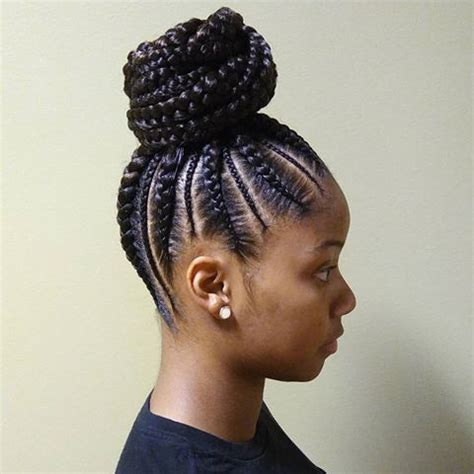 pictures of a black women with med cornrows into a senegalese twist ball try these 20 iverson braids hairstyles with images
