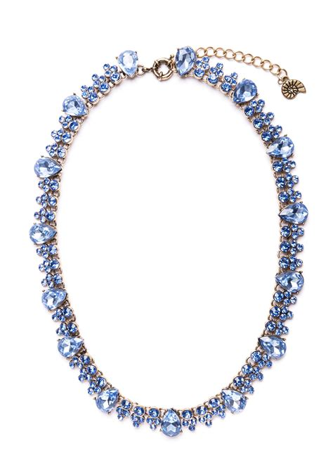 Z049 Ma Blue Necklace statement necklace serenity blue happiness boutique
