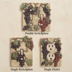 Grape Themed Kitchen Accessories Switch Plates For Your Wine Grape Theme Kitchen Remodel