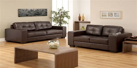 brown leather sofa living room new design 2018
