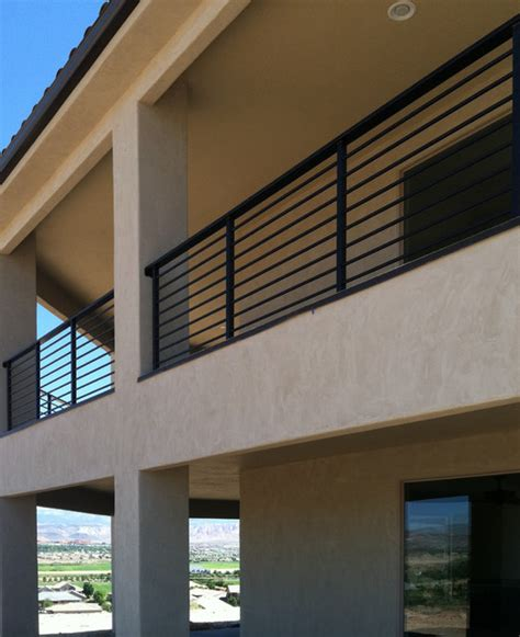 Exterior Banister by Exterior Horizontal Balustrade Modern Exterior Salt Lake City By Titan Stairs Utah