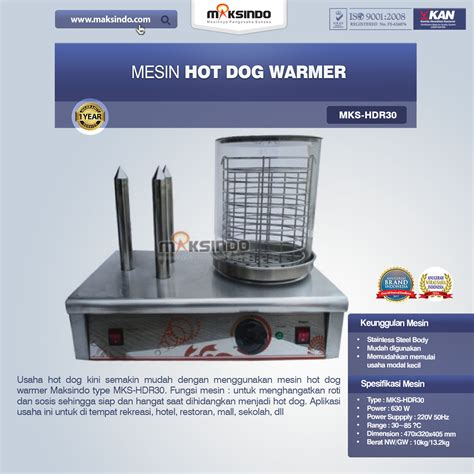 jual mesin hot dog warmer hdr  surabaya toko mesin