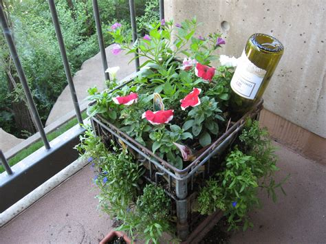 Balcony Container Gardening Ideas My Milkcrate Balcony Container Garden