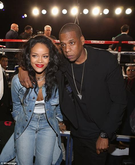 Blue Family In The Night Garden - jay z sits ringside at throne boxing fight night with rihanna and andre ward daily mail online