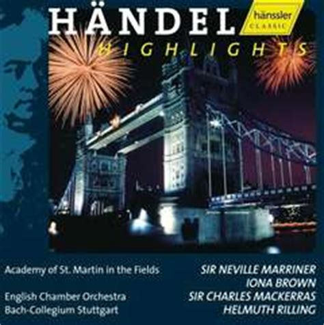 Cd Import Sir Charles Mackerras Orchestra Of St Luke Handel Water M cd h 228 ndel highlights helmuth rilling academy of st martin in the fields iona brown