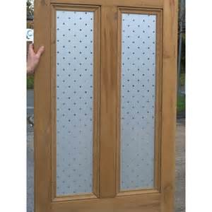 ed009 4 panel etched glass door with