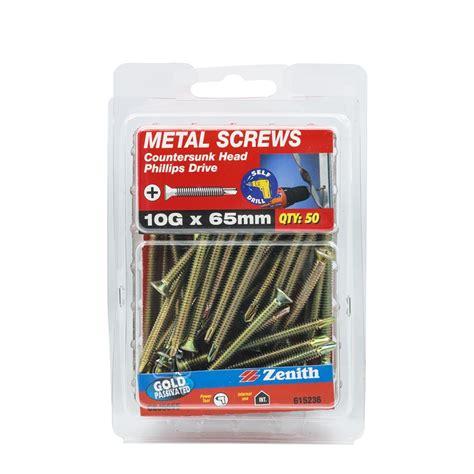 Sdw Countersunk 14 X 14 X 50 zenith 10g x 65mm countersunk metal screws 50 pack