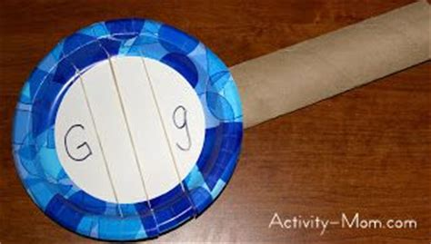 Paper Guitar Craft - the activity paper plate craft g is for guitar
