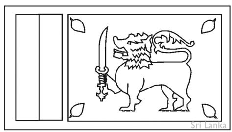 flag of sri lanka coloring pages