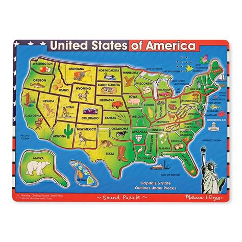 usa map sound puzzle reviews usa map wooden sound puzzle educational toys planet