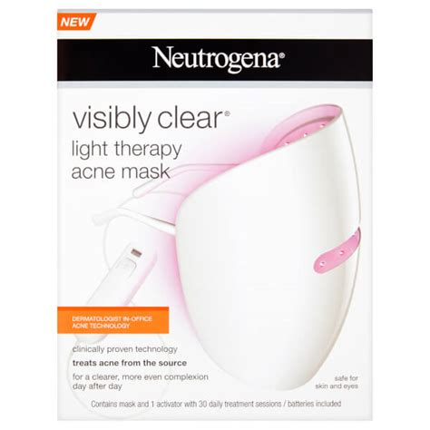 blue light acne mask neutrogena visibly clear light therapy acne mask hq hair