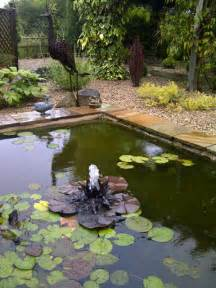 metallic garden water lily copper fountain