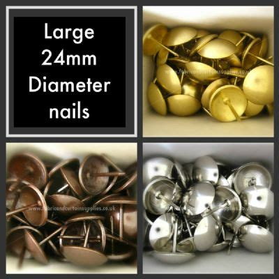 large 24mm upholstery nails furniture fabric studs