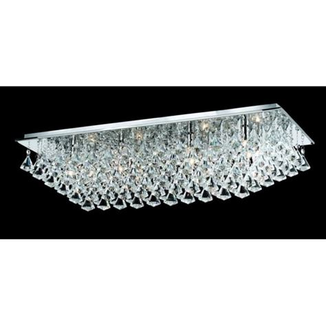 Flush Fit Ceiling Lights Impex Lighting Parma Large Rectangular 8 Light Flush Fitting With Polished Chrome Finish And