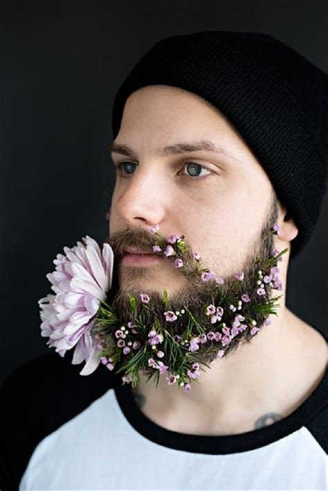 flowers in their men with beards the new beard craze flower beards made in shoreditch