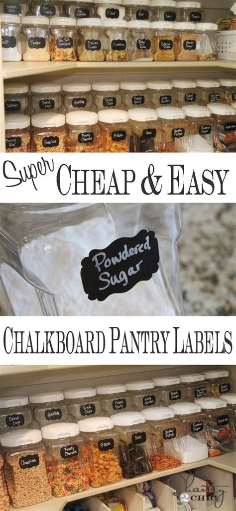 Diy Pantry Labels by Diy Labels Chalkboard Labels For The Pantry Chalkboard