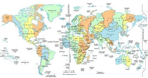 zones map world time zone map