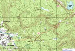 topographic map of the mallard lake trail yellowstone