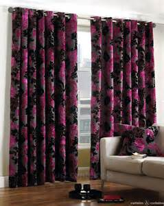 Pink And Purple Curtains B Uck Ing Ham He Cu T V Elv Et Pin K B Lac K E Yel Et Cur Ns