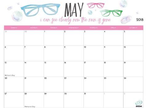 printable calendar 2018 imom may 2018 cute calendar printable larissanaestrada com