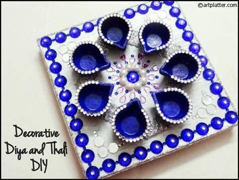 decorative diya and thali set tutorial happy diwali 2018 - Decorative Diya And Thali Set