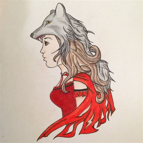 red riding hood tattoo and the wolf i designed for myself