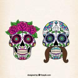 imagenes de calaveras folkloricas female and male sugar skulls vector free download
