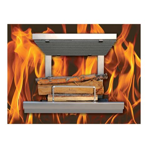 wood burning fireplace grates product earth s stainless steel wood burning