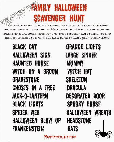 idea hunt free printable halloween game the idea room