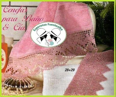 cenefas ganchillo para toallas puntillas a crochet para toallas dos modelos diferentes