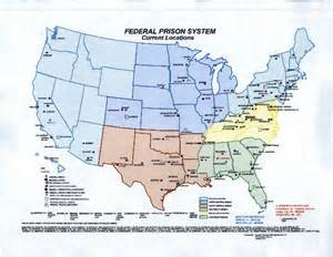 federal prisons in map we bureau of prison map 119 locations