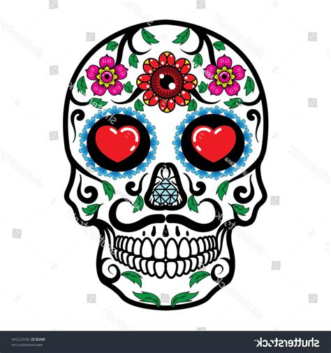 Hd Day Of The Dead Skulls Vector Cdr 187 Free Vector Art Day Of The Dead Skull Vector