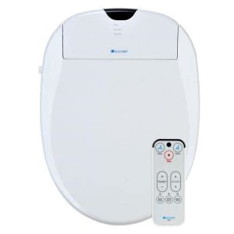 Bidet Toilet Seat Home Depot brondell swash 900 electric bidet seat for elongated toilet s900 ew the home depot