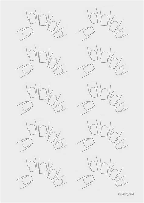 nail shape template nails by jema blank nail template for your nail